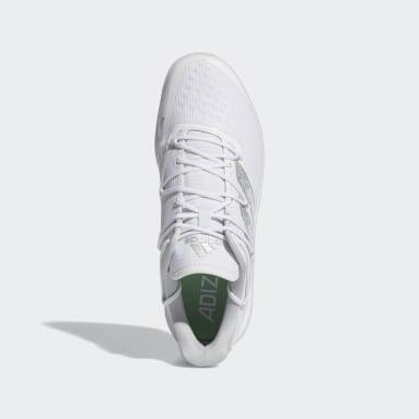 Men's Baseball White Adizero Afterburner 8 Turf Shoes
