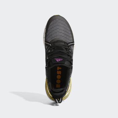 กอล์ฟ สีดำ รองเท้ากอล์ฟแบบไร้ปุ่ม Solarthon Primegreen