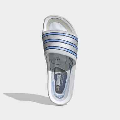 Women Originals Grey Adilette Premium Slides