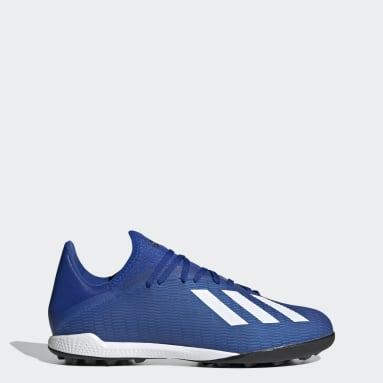 Zapatilla de fútbol X 19.3 moqueta Azul Mujer Fútbol