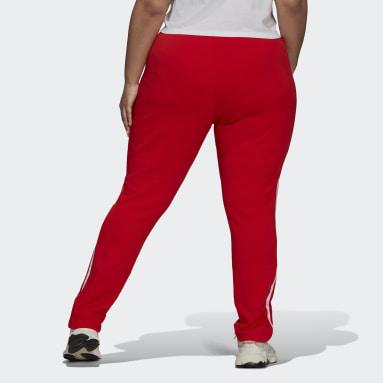 Women Originals Red Primeblue SST Track Pants (Plus Size)