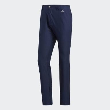 Men Golf Blue Ultimate365 3-Stripes Tapered Pants
