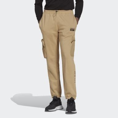 Pants Deportivos R.Y.V. Puño Ajustado Beige Hombre Originals