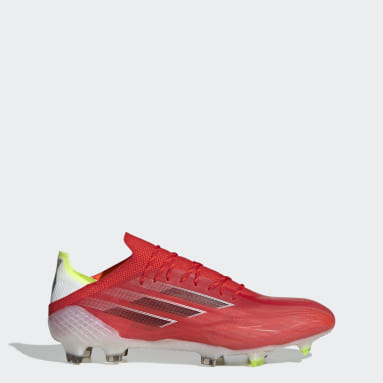 Calzado de Fútbol X Speedflow.1 Terreno Firme Rojo Fútbol