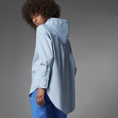 Dames Originals Blauw Blue Version Oversized Overhemd