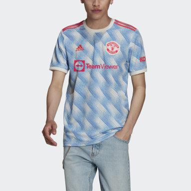 ฟุตบอล สีขาว เสื้อฟุตบอลชุดเยือน Manchester United 21/22