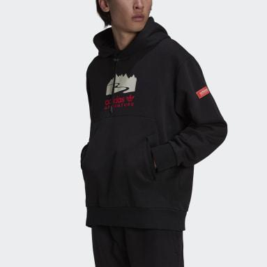 Men Originals Black adidas Adventure Logo Hoodie