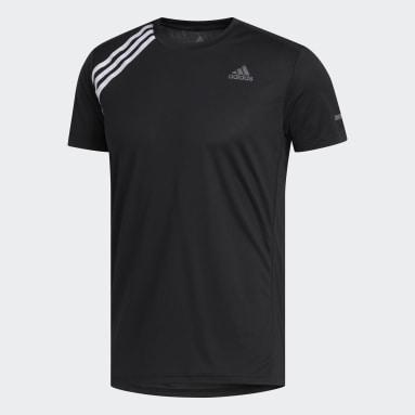 Camiseta para correr Run It 3 Rayas Negro Hombre Running