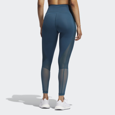 Women's Training Turquoise Believe This Summer Seven-Eighth Tights