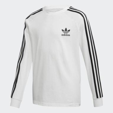 белый Лонгслив 3-Stripes