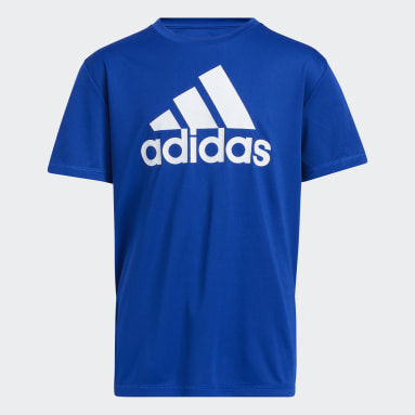 Youth Training Blue Performance Tee (Extended Size)