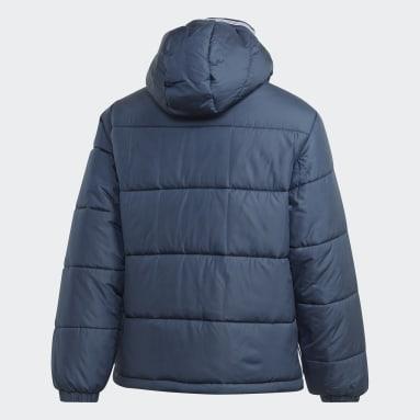 Men Originals Blue Padded Hooded Puffer Jacket