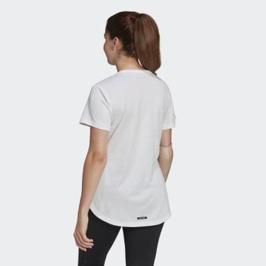 Camiseta Team GB HEAT.RDY Blanco Mujer Gimnasio Y Entrenamiento