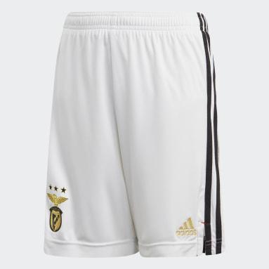Kids Football White Benfica Home Shorts