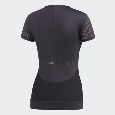 Women's adidas by Stella McCartney Black Lycra FitSense+ Training Tee