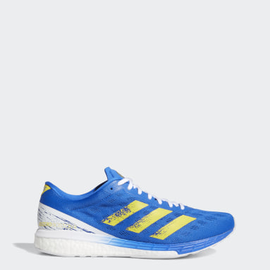 Men's Running Blue Adizero Boston 9 Shoes