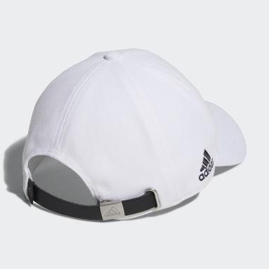 Men Golf White Embroidered Logo Graphic Better Cotton AEROREADY Twill Cap