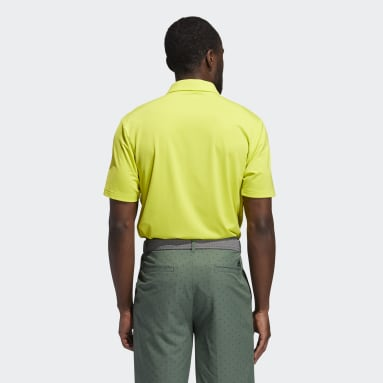 Men Golf Yellow Ultimate365 Solid Polo Shirt