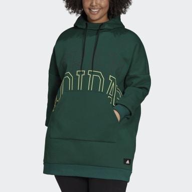 Women Sportswear Green adidas Sportswear Oversize Fleece Hoodie (Plus Size)