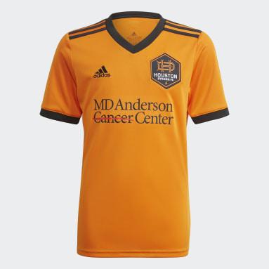Youth Soccer Orange Houston Dynamo 21/22 Home Jersey