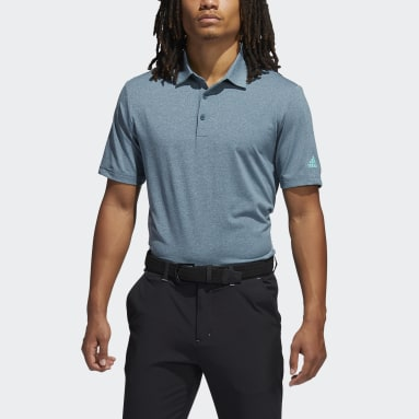 Men Golf Turquoise Ultimate365 Heather Polo Shirt