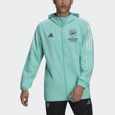 Men Football Green Arsenal Tiro Presentation Jacket