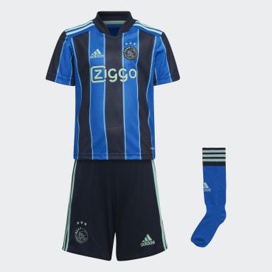 Kids 4-8 Years Football Blue Ajax Amsterdam 21/22 Away Mini Kit