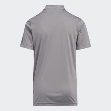 Youth 8-16 Years Golf Grey Print Colorblock Polo Shirt