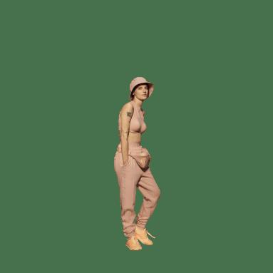 Women Originals Pink Crop Long-Sleeve Top