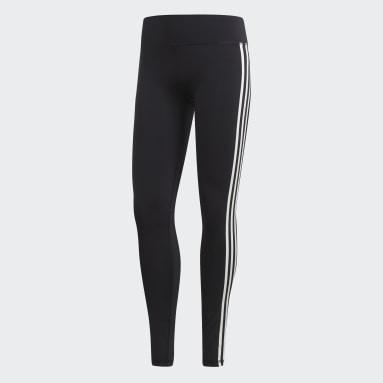 Women Yoga Black Believe This 3-Stripes Tights