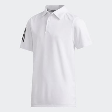 Polo 3 bandas Blanco Niño Golf