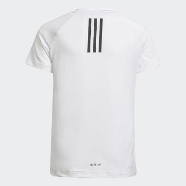 Youth 8-16 Years Gym & Training White XFG AEROREADY Breathable Slim Training T-Shirt