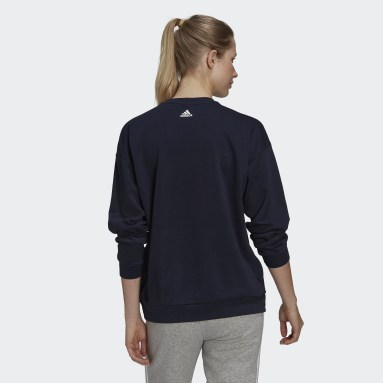 Dam Sportswear Blå U4U Soft Knit Sweatshirt