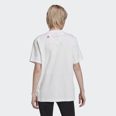 ผู้หญิง adidas by Stella McCartney สีขาว เสื้อยืดผ้าฝ้าย adidas by Stella McCartney