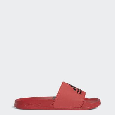 Ženy Originals červená Pantofle Adilette Shower
