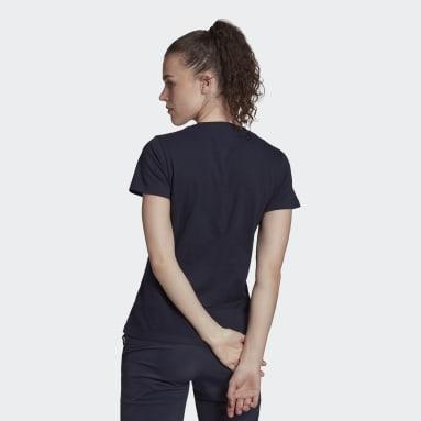 Dames TERREX blauw Katoenen T-shirt