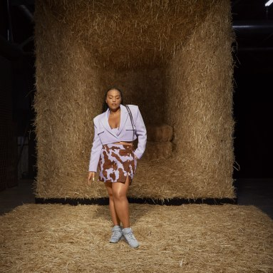 Women's Originals Multicolor Denim Cow-Print Skirt (Plus Size)