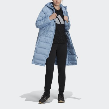 Dames City Outdoor Blauw Helionic Donsparka