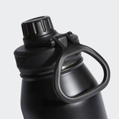 Hiking Black Steel Metal Bottle 1L