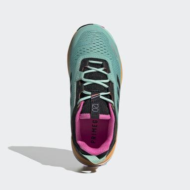 Kids TERREX Green Terrex Agravic Flow Primegreen Trail Running Shoes
