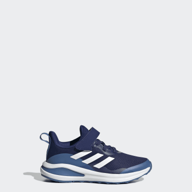 Kids Running Blue FortaRun Elastic Lace Top Strap Running Shoes