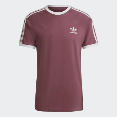 Originals adicolor Classics 3-Streifen T-Shirt Braun
