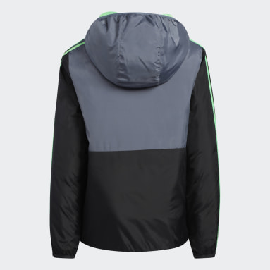 Youth Training Green Colorblock Insulated Jacket