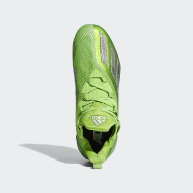 Men's Football Green Adizero 11.0 Turbo Fuel Football Cleats