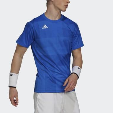 Men Tennis Blue Freelift Tokyo HEAT.RDY Tennis T-Shirt