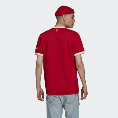 ฟุตบอล สีแดง เสื้อฟุตบอลชุดเหย้า Manchester United 21/22