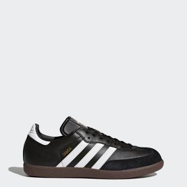 Futsal Black Samba Leather Shoes