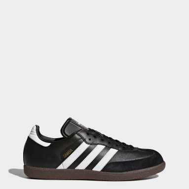 Sapatos Samba em Pele Preto Futsal