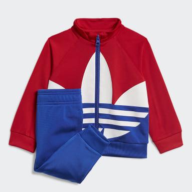 Kinder Originals Large Trefoil Trainingsanzug Rot