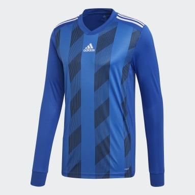 Men Football Blue Striped 19 Jersey